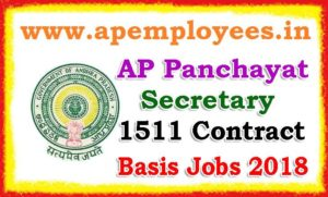 1511 AP Panchayat Secretary Contract Basis Notification 2018