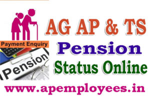AG AP Telangana Pension Case Status Online AP Pension Case Status TS Pension Case Status how to check Pension status in Online Pension status enquiry Pension Information AP Treasury pensioner Pension Information. Pensioners PPO Number can search by Name Pensioners Pay Account Slips Download Pensioner Pension Copy Pension Authorisation status Pension status. Service Pension Status Family Pension Status. Consequently AG AP Pension Case Status check in Online TS State Pension Status athttp://www.agap.cag.gov.in
