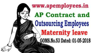 AP Contract and Outsourcing Employees Maternity leave G.O.MS.No. 53 Dated 01-05-2018