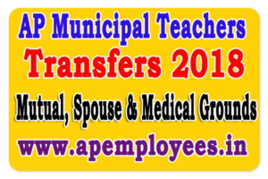 AP Municipal Teachers Transfers 2018 Mutual, Spouse CasesG.O.RT.No. 506 Dated: 16-05-2018 transfers online application form 2018 Spouse transfers 2018 medical grounds guidelines instructions How to know your entitle pointsCalculate Entitlement Points for teachers transferslast date for submit application eligibility