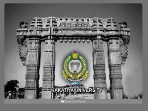 Kakatiya University Degree Online Admissions 2018