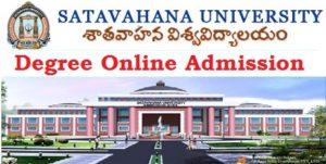 Satavahana Degree Online Admissions