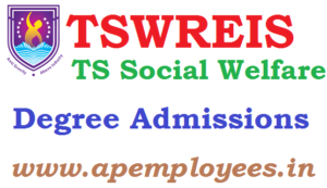TSWREIS Degree Admissions 2018 TS Social Welfare Counselling