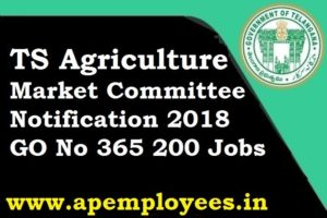 Telangana State Govt released Agriculture Market Committee Notification 2018
