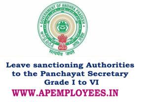 Panchayat Secretary Leave sanctioning Authorities